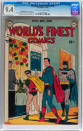 Golden Age (1938-1955):Superhero, World's Finest Comics #40 (DC, 1949) CGC NM 9.4 Cream to off-white pages....
