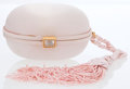 Luxury Accessories:Bags, Bottega Veneta Light Pink Satin Minaudiere Evening Bag with Tassle....