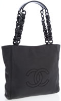 Luxury Accessories:Bags, Chanel Black Lambskin Leather Small Shopper Tote Bag with AcrylicDetails. ...