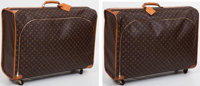 Louis Vuitton Set of Two: Classic Monogram Canvas Soft-Sided Suitcases