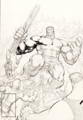 Original Comic Art:Covers, Dale Keown The Incredible Hulk #369 Unpublished AlternateCover Variant Original Art (c. 1990)....