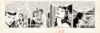 Alex Raymond Rip Kirby Daily Comic Strip Featuring Pagan Lee Original Art dated 5-6-47 (King Features Syndicat