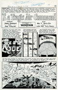 "Original Comic Art:Complete Story, Wally Wood Panic #12 Complete 7-Page Story ""'S a Tragic AirCommand"" Original Art (EC, 1955)...."