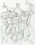 Original Comic Art:Splash Pages, George Perez Avengers #1 Splash Page 1 Pencil PreliminaryOriginal Art (Marvel, 1998)....