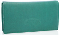 Zac Posen Green Leather Clutch Bag