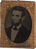 Political:Ferrotypes / Photo Badges (pre-1896), Abraham Lincoln: Speed Portrait Gem Ferrotype Badge....