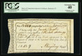 Colonial Notes:Connecticut, Connecticut Interest Payment Certificate. February 13, 1792. CutCancelled. PCGS Extremely Fine 40.. ...