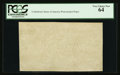 """Fractional Currency:First Issue, """"CSA"""" Watermarked Paper - Single Block. PCGS Very Choice New 64.. ..."""