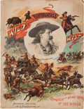 "Autographs:Celebrities, William F. ""Buffalo Bill"" Cody Signed Cabinet Card with 1893Chicago Wild West Program.... (Total: 2 Items)"