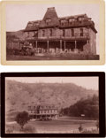 Photography:Cabinet Photos, Boudoir Cards: Two Scenes of the 1890 Stage at BeswickCalifornia.... (Total: 2 )