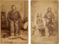 Photography:Cabinet Photos, Cabinet Cards of Indian Chiefs and Boudoir Card of Augustine the Dancer.... (Total: 3 )