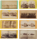 Photography:Stereo Cards, Early Steamers: Collection of Eight Stereoviews.... (Total: 8 Items)