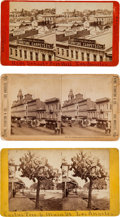 Photography:Stereo Cards, Stereoviews: Three Views of Los Angeles Street Scenes.... (Total: 3 )