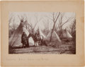 Photography:Official Photos, [Ed Irwin] Albumen Picturing Indian Encampment near Fort Sill,Oklahoma. ...
