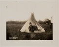 Photography:Official Photos, [Ed Irwin] Silver Print of Indian Encampment near Fort Sill,Oklahoma. ...