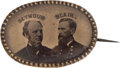 Political:Ferrotypes / Photo Badges (pre-1896), Seymour & Blair: A Rare Oval 1868 Jugate Ferrotype in SuperbCondition....