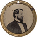 Political:Ferrotypes / Photo Badges (pre-1896), McClellan & Pendleton: A Very Choice and Unusual 1864 CampaignFerrotype....
