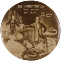 """Political:Pinback Buttons (1896-present), William Jennings Bryan: One of the Most Sought-after """"CartoonButton"""" Rarities...."""