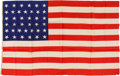 Political:Textile Display (pre-1896), U. S. Flags: 38-Star Silk Flag....
