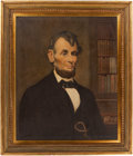 Political:3D & Other Display (1896-present), Abraham Lincoln: Oil on Canvas by African American Artist....