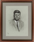 Political:Miscellaneous Political, John F. Kennedy: Another Fine Louis Lupas Portrait Dated 1961....