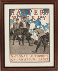 Art:Illustration Art - Mainstream, Maxfield Parrish: Harper's Weekly, National Authority on AmateurSport Color Print, circa 1896,...