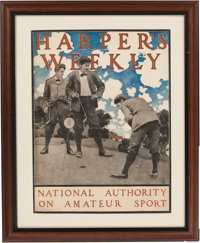 Maxfield Parrish: Harper's Weekly, National Authority on Amateur Sport Color Print