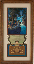 Art:Illustration Art - Mainstream, Maxfield Parrish: Waterfall Color Print, 1931 Edison MazdaCalendar,...