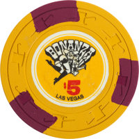 Las Vegas Casino Chips: Bonanza $5 Chip