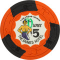 Miscellaneous:Gaming Chips, Las Vegas Chips: $5 Dunes Chip....
