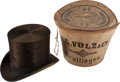 Antiques:Textiles, Sitting Bull's Top Hat, Presented to Him by President ChesterArthur. ... (Total: 3 Items)