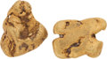 Western Expansion:Goldrush, California Gold: Two Nuggets. ... (Total: 2 )