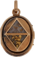 Antiques:Clocks & Watches, 14k Gold Quartz Pendant on Watch Fob. ...