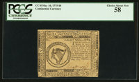 Continental Currency May 10, 1775 $8 PCGS Choice About New 58