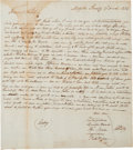 Autographs, An 1804 Appeal for Corn from Cherokee Leaders in Muscle Shoals, Alabama. ...