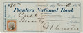 Autographs:Celebrities, George Armstrong Custer: A Rare Personal; Check with a Terrific Large, Bold Signature....