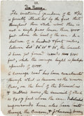 Autographs:Authors, John Muir Autograph Manuscript Page from Chapter V of his Book,The Mountains of California. ...
