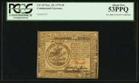 Continental Currency November 29, 1775 $5 PCGS About New 53PPQ