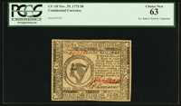 Continental Currency November 29, 1775 $8 PCGS Choice New 63