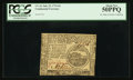 Continental Currency July 22, 1776 $4 PCGS About New 50PPQ