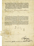 """Autographs:Non-American, King Ferdinand VII Manuscript Document Signed """"Yo el Rey"""" (""""I the King"""") in Spanish, one page, 8"""" x 11.75"""". Palacio,... (Total: 1 Item)"""