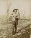 "Photography:Official Photos, BUFFALO BILL ""LOOKING FOR GAME"". Taken at Cody's TE Ranch,circa 1902. Cody purchased the ranch in 1895 and immediat...(Total: 1 Item)"