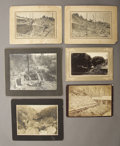 Photography:Cabinet Photos, LOT OF SIX WESTERN MINING AND EQUIPMENT VIEWS - IMPERIAL CARDS -ca. 1890-1900.. This is a great lot of five large format ...(Total: 1 Item)