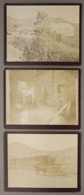 Photography:Cabinet Photos, THREE HANDSOME W.H. JACKSON MINING PHOTOGRAPHS. While travelingthroughout the West, Jackson recorded these images: (a) an e...(Total: 1 Item)