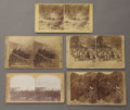 Photography:Stereo Cards, FIVE SCENIC STEREOVIEWS OF COLORADO MINING TOWNS. Collection of five stereoviews of Colorado mining towns from the late 1800... (Total: 1 Item)
