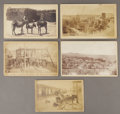 Photography:Cabinet Photos, EARLY NEW MEXICO CABINET CARDS. This lot of five cabinet cardscirca 1880-1890 features images of New Mexico towns. A few wi...(Total: 1 Item)