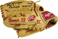 """Baseball Collectibles:Others, 2003 David Wells Game Worn Fielder's Glove. Despite the Yankee victory over the hated Boston Red Sox, pitcher """"Boomer"""" Well..."""