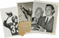 Football Collectibles:Photos, 1939-60 Vintage Football Hall of Famer Photographs Lot of 3. The trio vintage football photographs seen here each features ...