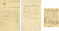 "Autographs:Artists, Frederic Auguste Bartholdi Autograph Letter Signed""Bartholdi"" in French, two pages, 4.25"" x 7"", separatesheets. To Mr.... (Total: 1 Item)"