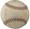 Autographs:Baseballs, 1938 New York Yankees Team Signed Baseball. In what was his finalfull season in a major league uniform, Lou Gehrig applied...